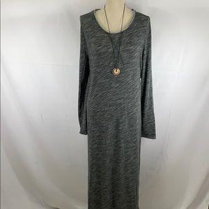 NWT Free People maxi split side tunic in greys